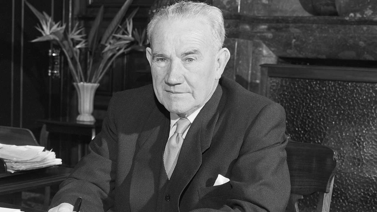 Mr J J Cahill, Premier of New South Wales, 1956