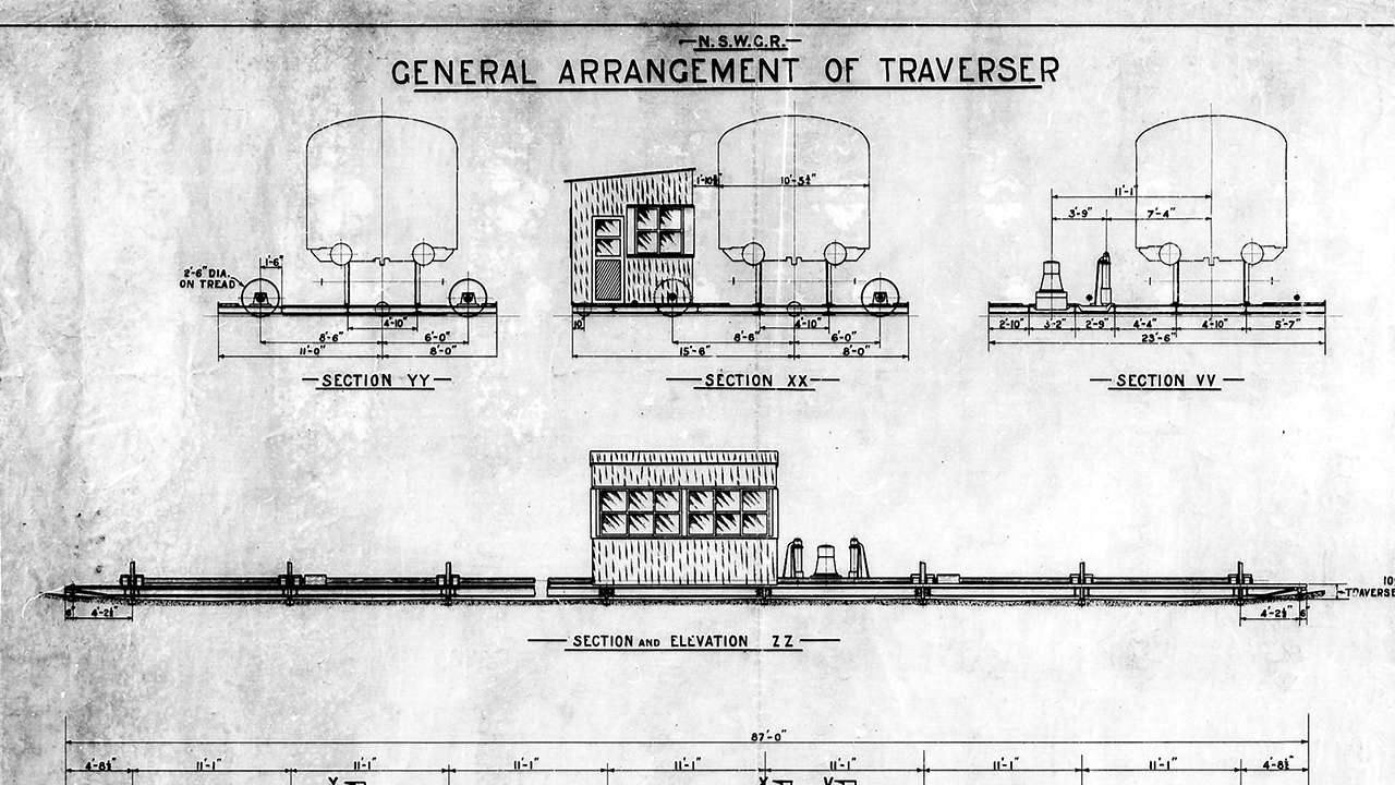 The NSW Government Railways plans for the Traverser