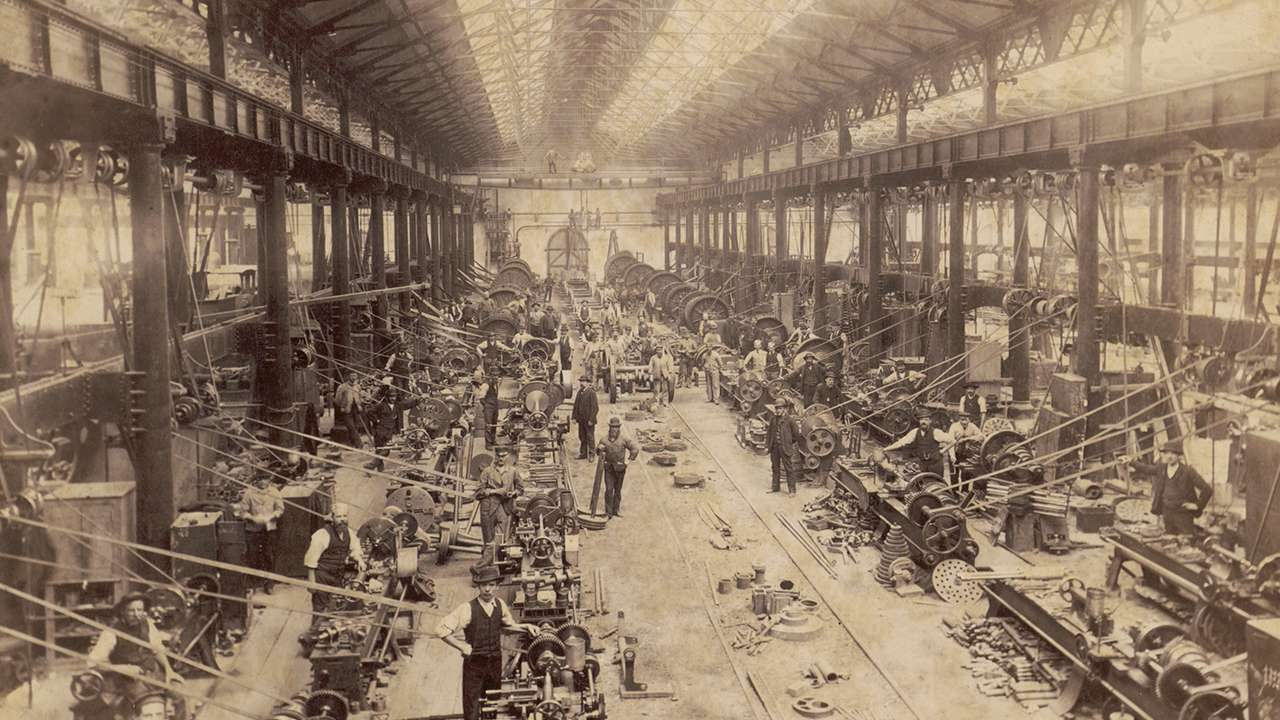 Wheel Shop, Eveleigh Locomotive Workshops, undated