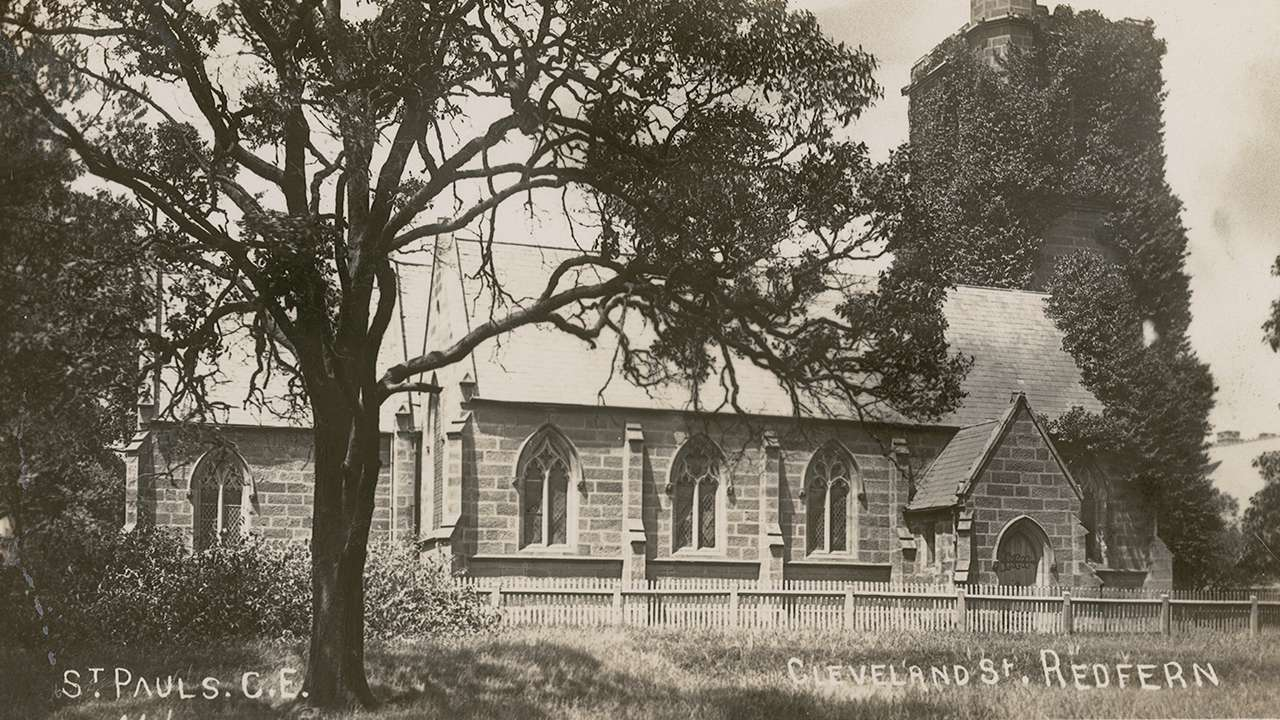 The former St Pauls Anglican Church, corner Cleveland and Regent Street Redfern (now St Andrew's Greek Orthodox Church), 1907