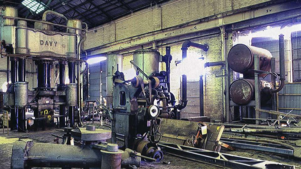 The Davy Press was a centre piece of the Locomotive Workshops and was operational up until 1992