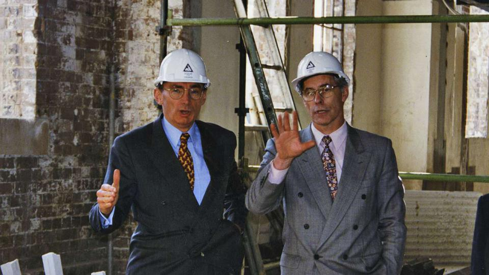 Bob Carr and Tom Forgan discussing ATPs development c. 1995