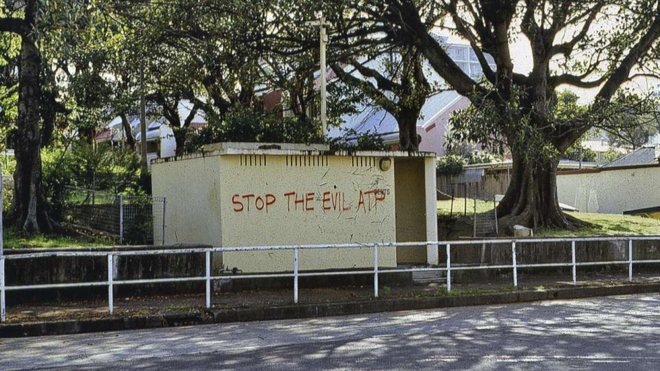 Just some of the anti ATP graffiti, c. 1990