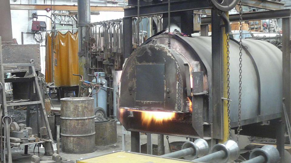 A furnace In the Blacksmiths Workshop, Bay 1 south, ATP