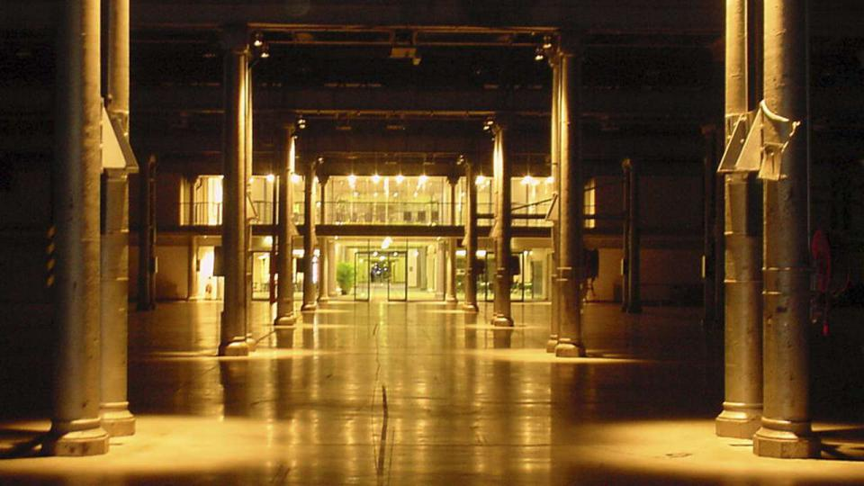 Looking through the exhibition Hall of the Australian Technology Park
