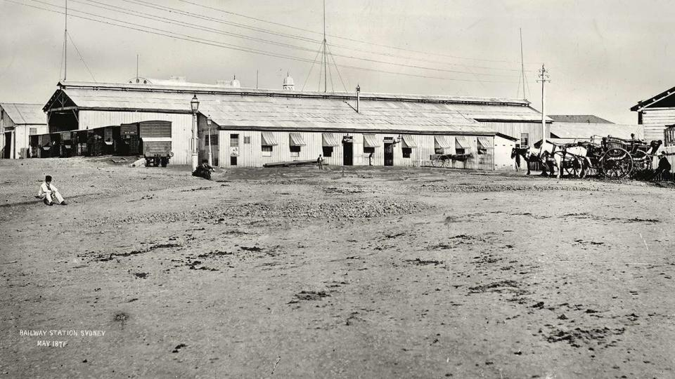 "The first terminal station in Sydney was known as ""Redfern"" it was opened in 1855, image dated 1871"