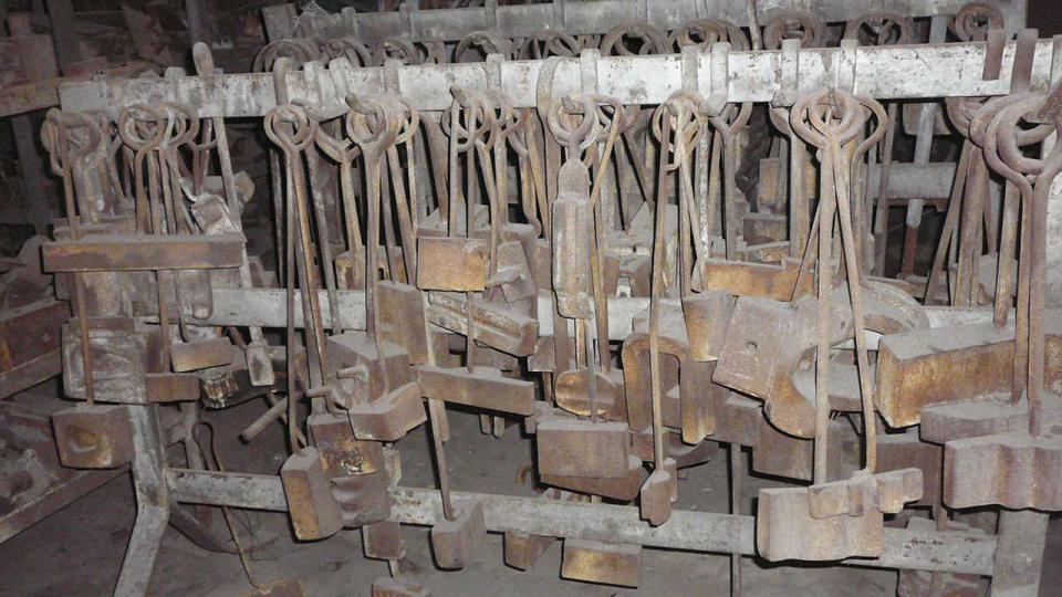 Rack of Blacksmith's tools Bay 2 North
