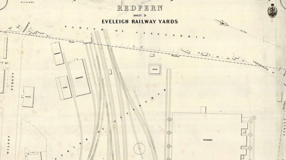 Sheet 31, Eveleigh Railway Yards, 1889, Sydney Metropolitan Detail Series