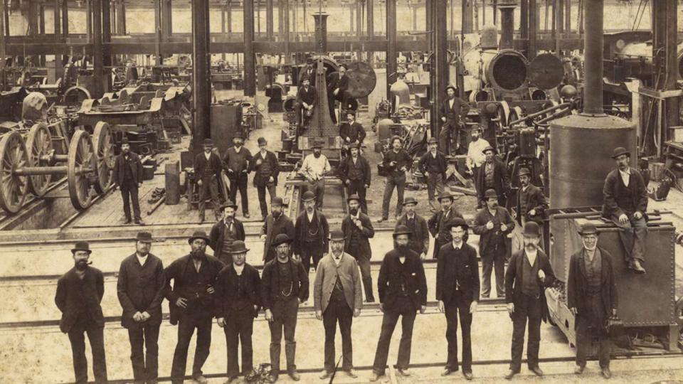 Eveleigh Locomotive Workshops, circa 1889