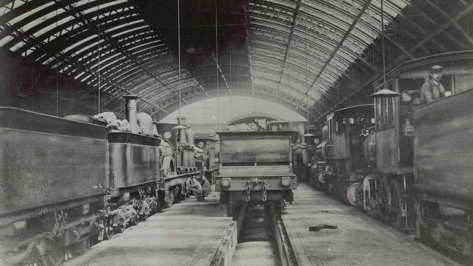 Eveleigh Locomotive Running Sheds, circa 1890