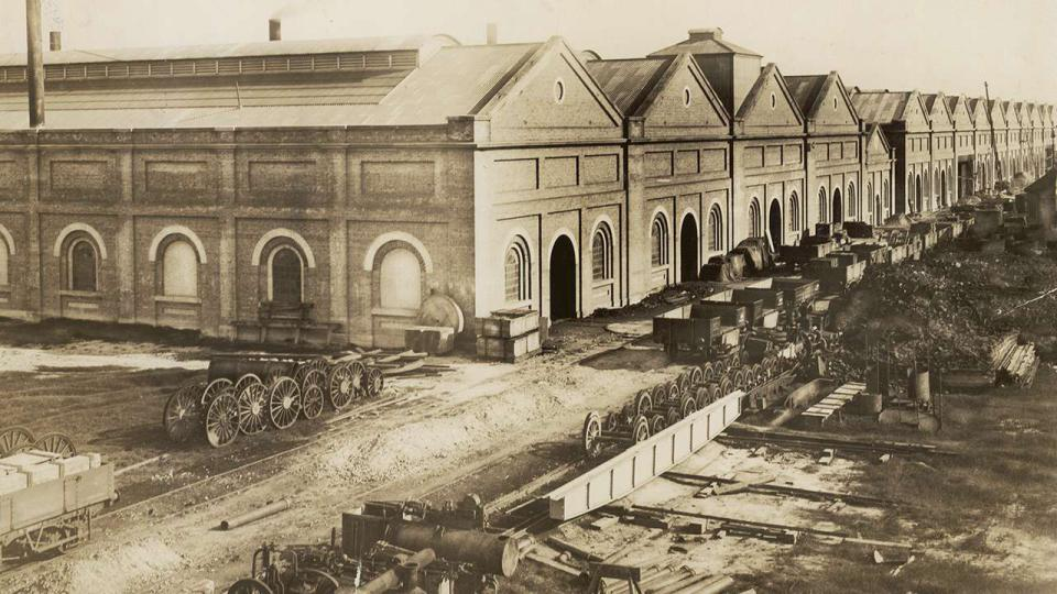 Eveleigh Locomotive Workshops, undated