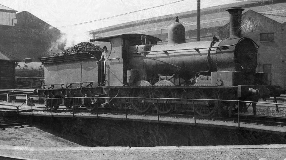 Locomotive at depot