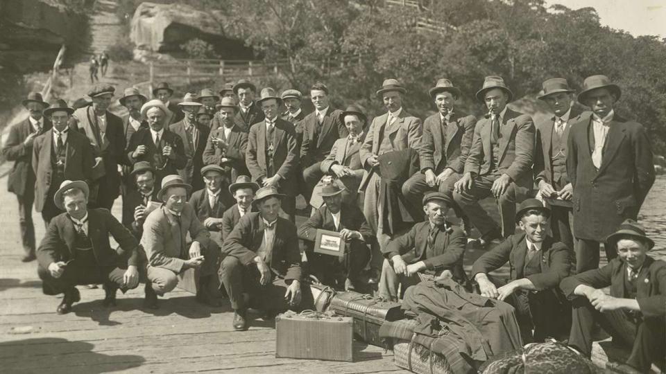 Strikers camped at Taronga Zoo.