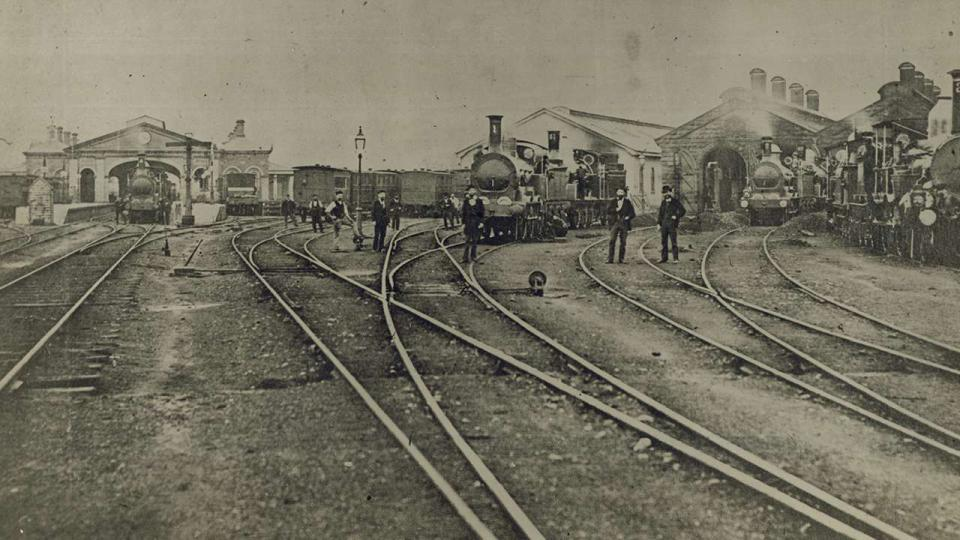 Stevenson Locomotives which commenced duty 1855 at the (first) Redfern Railway Yards, circa 1880s