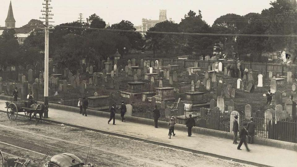 Devonshire Street Cemetery, these graves were relocated to allow for the expansion of the Sydney Railway Station, 1902