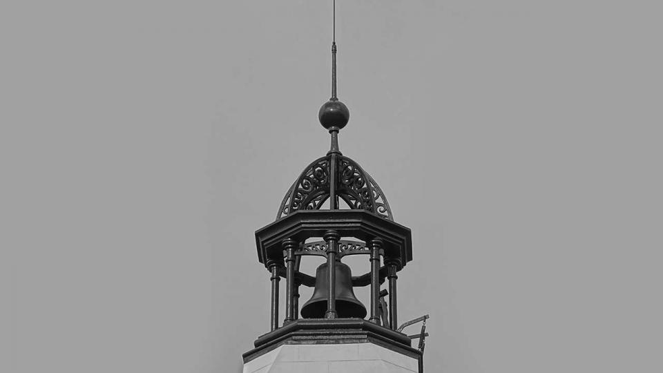 Bell above the Work's Manager and Timekeepers' Office, restored and reinstated in 2015 by ATPSL