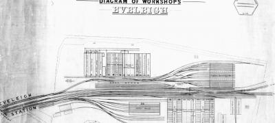 NSW Railways Diagram of Eveleigh Workshops, 1887