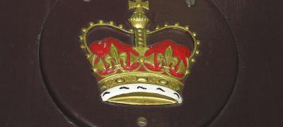 Royal crest on side of Governor General's carriage, undated