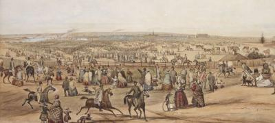 Turning the turf of the first railway in the Australasian colonies at Redfern, 3 July 1850